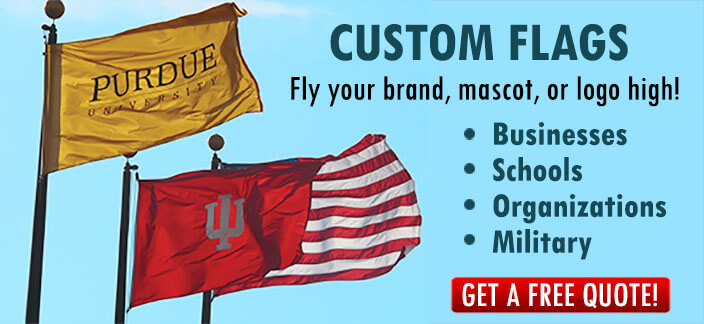Custom flags make a business stand out.