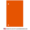 Nylon Burnt Orange Solid Color Drape Banner