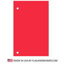 Nylon Bright Red Solid Color Drape Banner
