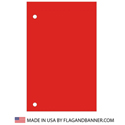 Nylon Canada Red Solid Color Drape Banner