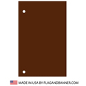 Nylon Spice Brown Solid Color Drape Banner