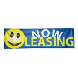Now Leasing Smiley Face Banner, DBANN620BSF104