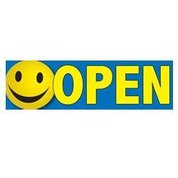 open smiley face banner