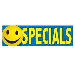 Specials Smiley Face Banner, DBANN27BSF107
