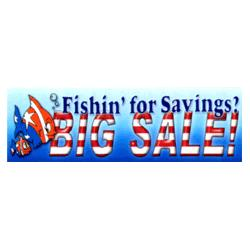 Fishin' for Savings? Big Sale! Patriotic Banner, DBANN310BFH110