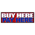 Buy Here Pay Here Patriotic Banner