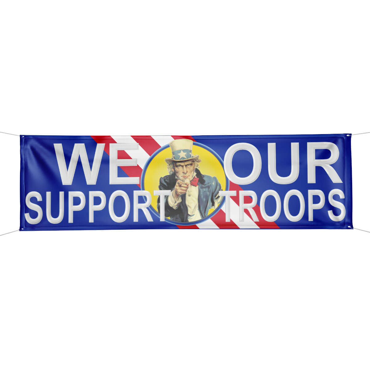Vinyl We Support Our Troops PatrioticBanner, FBPP0000012854