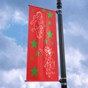 Cherubs and Stars Street Pole Banner