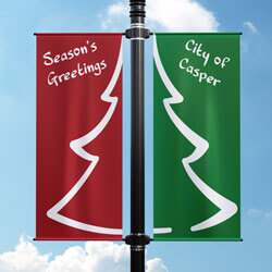 Christmas Tree Street Pole Banner, FBPP0000009909