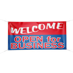Welcome Open For Business Banner, DBANNG5H
