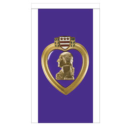 Purple Heart Banner, DBANNPURHRT23