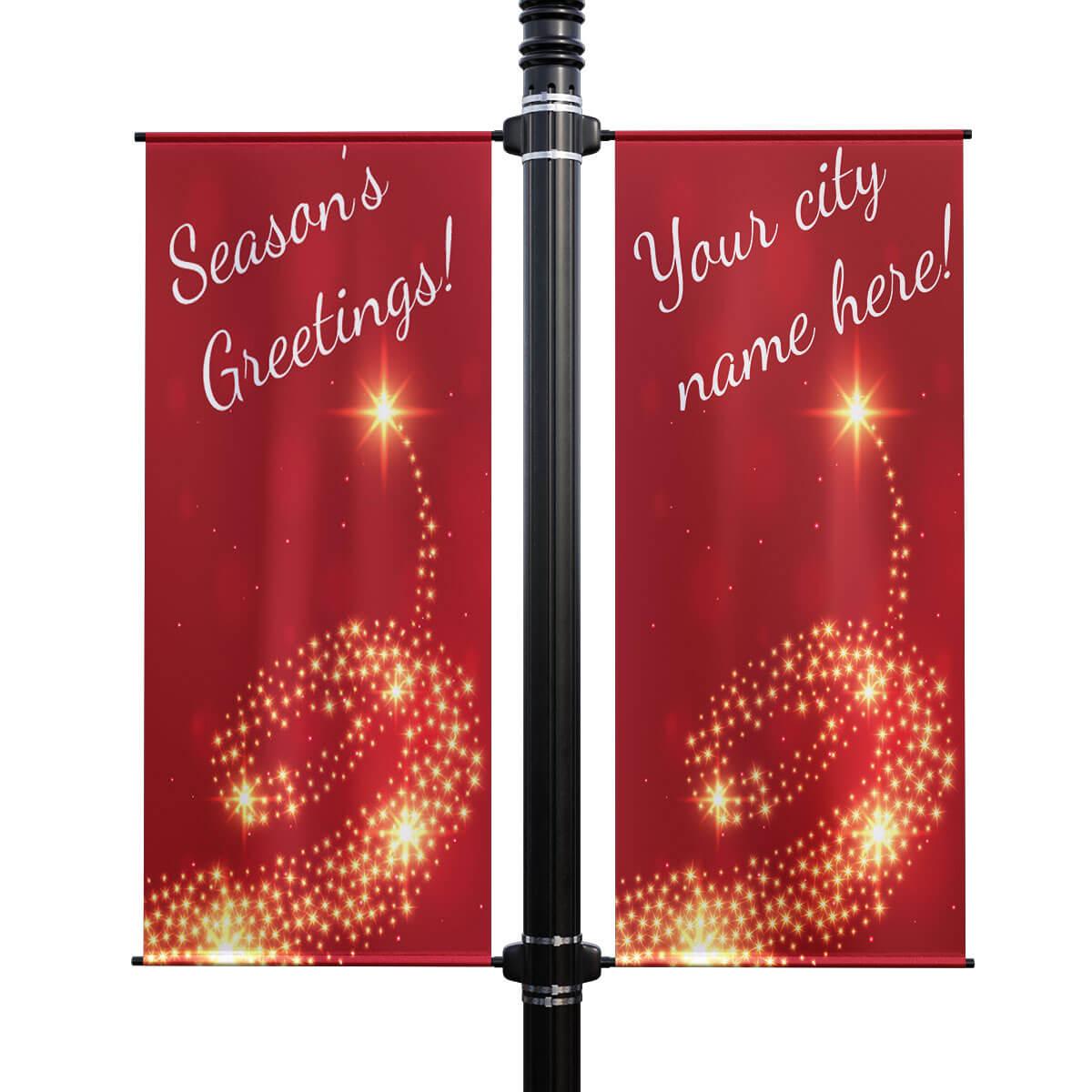 Seasons greetings double street pole banner kristyandbryce Choice Image