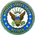 US Navy Retired Sticker, DECDCM010