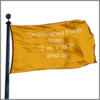 Decorative Flags and Banners with Grommets