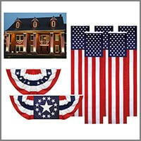 American Flag Bunting, Patriotic Bunting & Solid Color Bunting Fabric