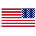 Right-Hand American Flag Decal, DECUS2233R