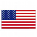 Left-Hand American Flag Decal, DECUS2384LS