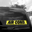 Air Cond. Windshield Sign, DECVAS215A