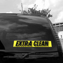 Extra Clean Windshield Sign, DECVAS215F