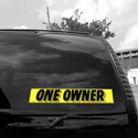 One Owner Windshield Sign, DECVAS215L