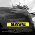 Save Windshield Sign, DECVAS215N