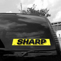 Sharp Windshield Sign, DECVAS215P