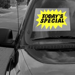 Today's Special Windshield Sign, DECWM12F