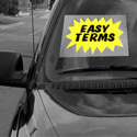 Easy Terms Windshield Sign, DECWM12HH