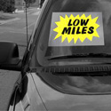 Low Miles Windshield Sign, DECWM12W