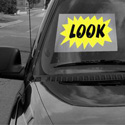 Look Windshield Sign, DECWM12X