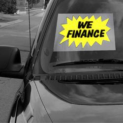 We Finance Windshield Sign, DECWM12Z