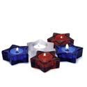 Red White & Blue Star Tea Light Holders, DEI60888