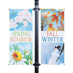 Four Seasons Double Street Pole Banner, FBPP0000010458