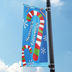 Candy Cane Blizzard Street Pole Banner, FBPP0000009858