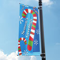 Candy Cane Blizzard Street Pole Banner