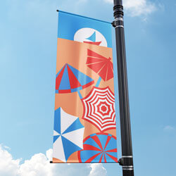 Beach Party Street Pole Banner, FBPP0000009674