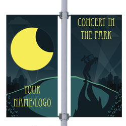 Concert in the Park Double Street Pole Banner,DEKCHCPDB3084V