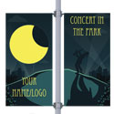 Concert in the Park Double Street Pole Banner