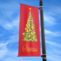 Holiday Tree Street Pole Banner