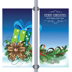 Presents Double Street Pole Banner,DEKCHPDB3084S