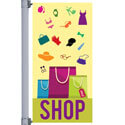 Shopping Street Pole Banner