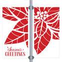 Sun Poinsettia Double Street Pole Banner