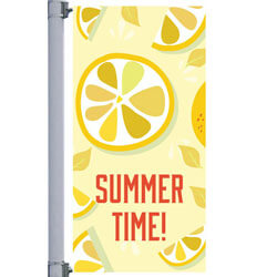 Summer Time Street Pole Banner,DEKCHST3060V