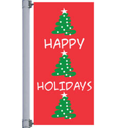 Triple Tree Street Pole Banner,DEKCHTT3072S