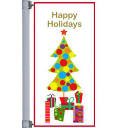 Christmas Morning Street Pole Banner, DEKCM3060V