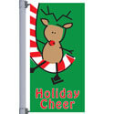 Cheerful Reindeer Street Pole Banner