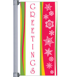 Greetings Street Pole Banner,DEKGB3060V