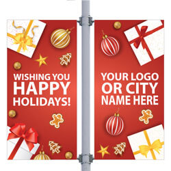 Gifts Galore Double Street Pole Banner,DEKGGDB3096V