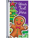 Gingerbread Man Street Pole Banner