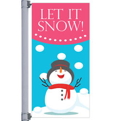 Let It Snow Street Pole Banner,DEKLIS3072V